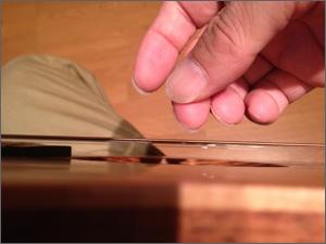 指でストロークの図2