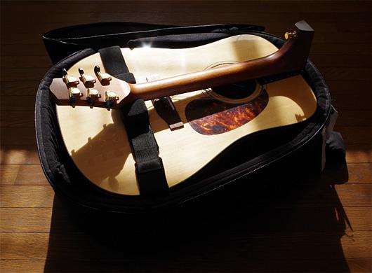 Voyage-air Guitarがケースに収まったところ